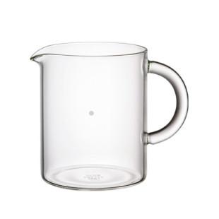 Zylindrische Glaskanne 2Cups vom japanischen Designhersteller KINTO aus der Serie Slow Coffee Style. Design Glas Kännchen Jug 300 ml.