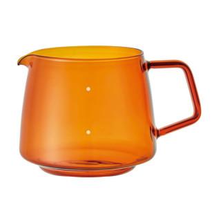 KINTO Design Glaskanne 4Cups. 600 ml = ideal für bis zu 4 Tassen Kaffee oder Tee. Kanne in amber (Bernstein braun). Designt in Japan.
