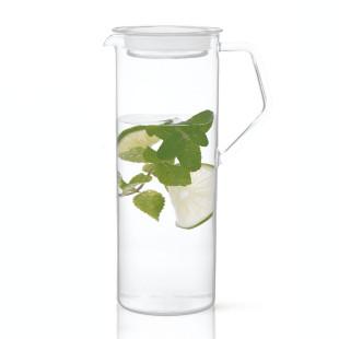 Glaskaraffe mit 1,2 Liter Volumen. Wasserkaraffe, Glaskrug, ... CAST von KINTO Design.