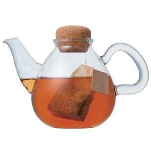 Teekanne aus Glas mit Korkverschluss PLUMP 450ml