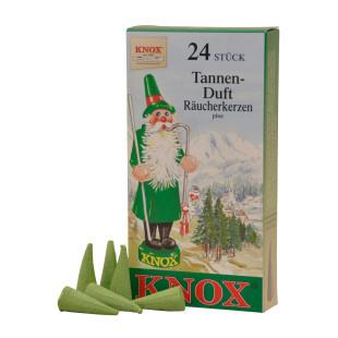 Das Original! Weihnachtliche Räucherkerzen TANNE von KNOX aus dem Erzgebirge. Räucherkegel Tannenduft 24 Stück.