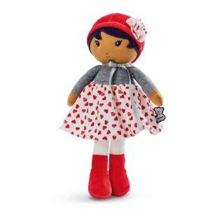 Schmusepuppe Mädchen Tendresse JADE K - 25 cm. Supersofte Puppe mit Herzchen-Kleidchen vom französischen Hersteller Kaloo.