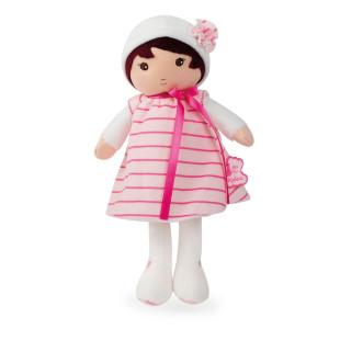 Schmusepuppe Mädchen Tendresse ROSE K - 25 cm. Supersofte Puppe mit gestreiftem Kleidchen vom französischen Hersteller Kaloo.