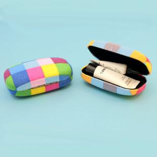 Aufbewahrungsdose Mini Case - Karo bunt