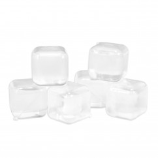 Eiswürfel ICE CUBES - Kunststoff klar, wiederverwendbar, 30 Stück