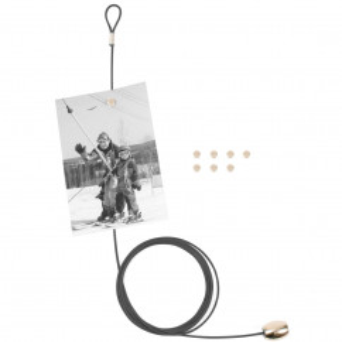 Fotoseil / Fotohalter Magnetseil, schwarz