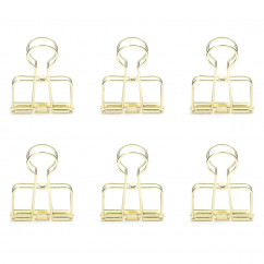 Klammern Wire Clips gold, 6er-Set