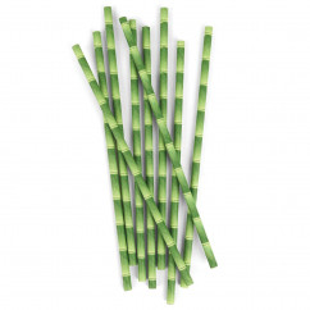 Papier-Strohhalme Bamboo 144 Stück