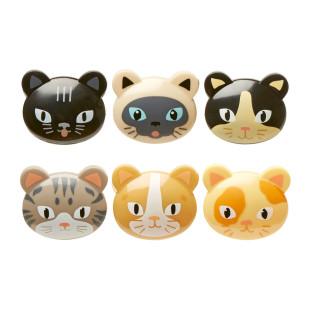 CAT Bag Clips von Kikkerland: 6 kleine Katzen-Tütenklammern verschließen ab sofort deine Tüten.