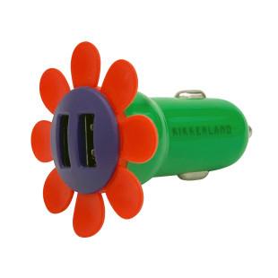USB Ladestecker Auto FLOWER CHARGER 2-fach von Kikkerland. USB Adapter Blume für Zigarettenanzünder.