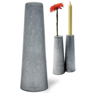 Blumenvase und Kerzenständer Clou