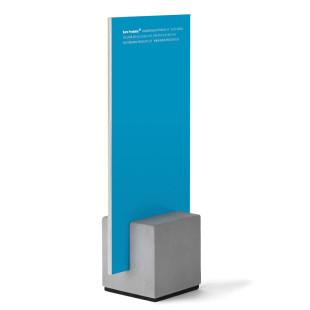 Kartenhalter / Menükartenhalter Block aus Beton