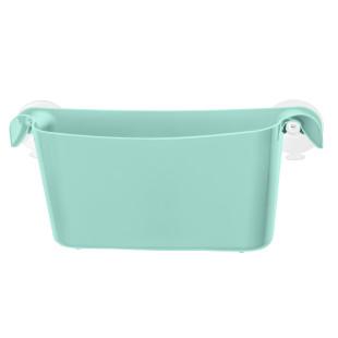 Duschablage und/oder Utensilienbehälter - BOKS Utensilo mint spa turquoise von Koziol Design. Türkise Badablage mit Saugnäpfen.