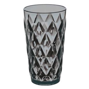 Trinkbecher 450 ml CRYSTAL in transparent anthrazit mit Facettenschliff von Koziol. Der Becher aus Kunststoff.
