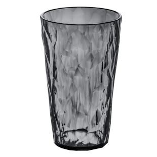 Becher CLUB L in transparent-grau mit 400 ml von Koziol. Kunststoffbecher mit faszinierender Facettenstruktur.