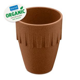 Brauner Kaffeebecher CONNECT ORGANIC 300 ml von Koziol Design. Kaffeetasse, Cappuccinobecher, ... aus nachhaltigem Kunststoff.