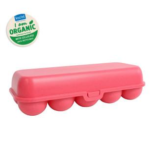 EGG TO GO Eierschachtel coral von Koziol. Mehrwegbox für Eier, Eierschachtel, Eierbox aus nachhaltigem Kunststoff - BPA frei.