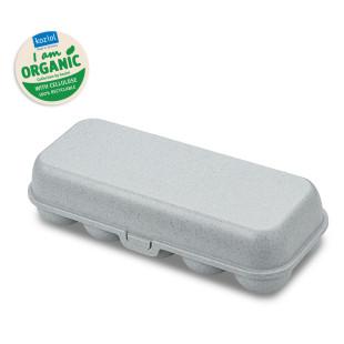 Hellgraue EGG TO GO Eierschachtel von Koziol Design. Mehrwegbox für Eier, Eierbehälter, Eierschachtel, Eierbox aus nachhaltigem Kunststoff.