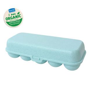EGG TO GO Eierschachtel hellblau aqua von Koziol. Mehrwegbox für Eier, Eierschachtel, Eierbox aus nachhaltigem Kunststoff - BPA frei.