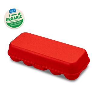 EGG TO GO Eierschachtel rot von Koziol. Mehrwegbox für Eier, Eierschachtel, Eierbox aus nachhaltigem Kunststoff - BPA frei.
