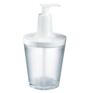 Koziol Seifenspender FLOW 250 ml, transparent-weiß. Kunststoff Seifenspender - standsicher, leicht zu befüllen, ...