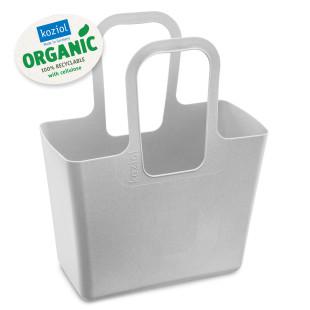 Alleskönner und praktisch im Alltag: die hellgrau Tasche XL ORGANIC grey von Koziol Design! Einkaufskorb, Einkaufstasche, Shopper, Strandtasche ... Kunststoff.