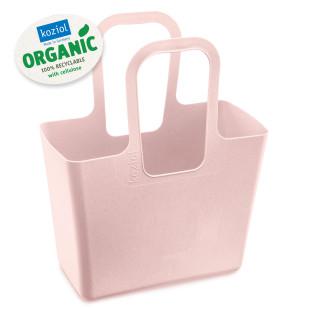Alleskönner und praktisch im Alltag: die rosa Tasche XL ORGANIC pink von Koziol Design! Einkaufskorb, Einkaufstasche, Shopper, Strandtasche ... Kunststoff.
