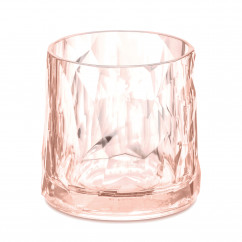 KOZIOL Superglas No.2 Club rosa: unzerbrechliches Trinkglas aus Hightech Kunststoff. Kunststoffglas 250 ml in transparent rose quartz.
