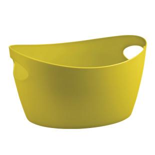 Zuber 4,5 l - Korb mit Tragegriffen - senfgrün - Utensilo BOTTICHELLI M aus Kunststoff von Koziol Design. Aufbewahrungskorb, Aufbewahrungsbehälter, Korb ...