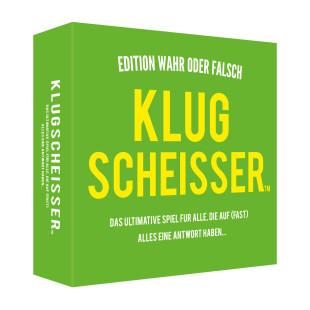 Gesellschaftsspiel Klugscheisser - Edition Wahr oder Falsch. Lustiges Partyspiel.