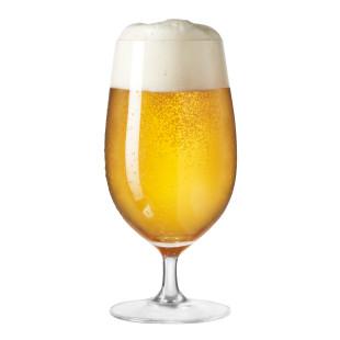 Modernes Bierglas 390 ml CIAO+ von LEONARDO. Schlichtes Stielglas für Bier.