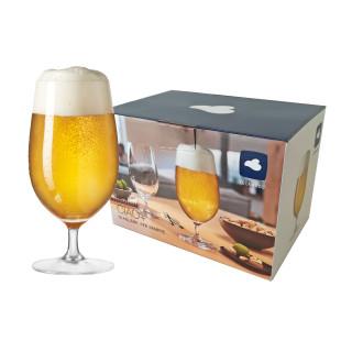 Bierglas 6er-Set 390 ml CIAO+ von LEONARDO. Sechs Stielgläser für Bier. Qualitäts-Biergläser.