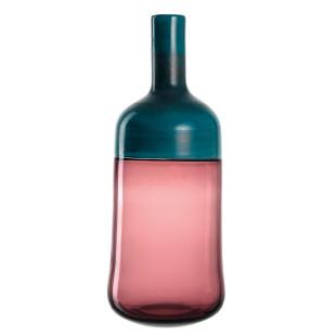 Die hochwertige, handgefertigte Vase LUCENTE von LEONARDO. Flaschenvase aus blau-violettem Glas für Blumen und dekorative Äste, aber auch Solo ein echter Eyecatcher.