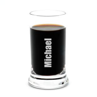 Schnapsglas mit Gravur - Stamper K18 von Leonardo Design - personalisiert mit Namensgravur - 60 ml / 6 cl Schnapsglas graviert
