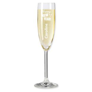 Sektglas HAPPY NEW YEAR mit Namensgravur - Silvester - Neujahr - Leonardo Sektgläser - Champagnerglas - Gravur