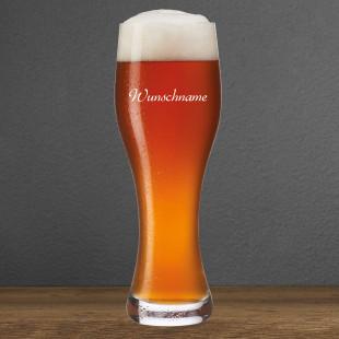 Weizenbierglas mit Name graviert. Hochwertiges Leonardo Weizenbierglas mit Namensgravur. Personalisiertes Weizenbierglas mit Gravur.