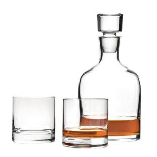 Whiskyset AMBROGIO von Leonardo Design - 2 Tumbler Gläser und 1 Karaffe mit Glasstopfen.