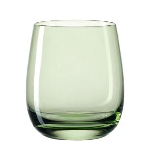 Windlicht / Trinkglas SORA Glas bauchig 360 ml, grün
