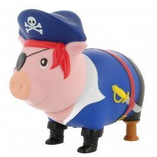 Sparschwein Pirat - Sparschweine BIGGYS von LiLaLu - lustige Sparschweine - Spardose, Sparbüchse ... für Kinder und Erwachsene.