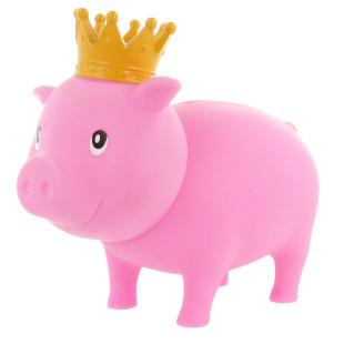 Sparschwein rosa mit Krone - Its a girl - Geburt, Geburtstag - Sparschweine BIGGYS von LiLaLu - lustige Sparschwein für Jungs - Spardose, Sparbüchse ... für Kinder.