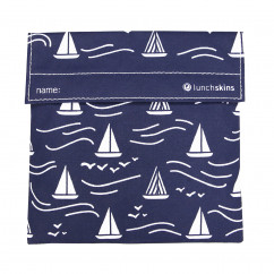 Lunchskin Sandwich Tüte - Lunchtüte - Lunch Bag - Segelboot Motiv - dunkelblau