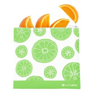 Lunchtüte ZIP mit Reißverschluss von lunchskins. Die wiederverwendbare Lunchtüte - Modell green fruits.