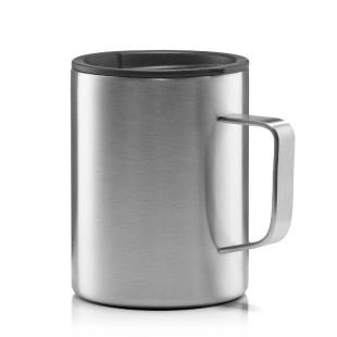 Becher aus Edelstahl mit Kaffee-Deckel von MIZU Design - Doppelwandiger Thermobecher - BPA-freier Isolierbecher