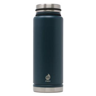 Thermosflasche V12 Edelstahl 1080 ml Enduro midnight blue von MIZU Design.  Doppelwandige Isolierflasche groß dunkelblau.