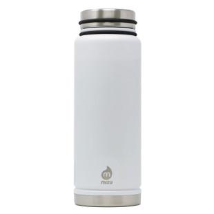 Thermosflasche V12 Edelstahl 1080ml weiß von MIZU Design. Doppelwandige Isolierflasche groß.