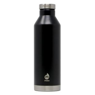 Trinkflasche 0,8 Liter - doppelwandig - Edelstahl. Thermosflasche V8 von MIZU Design. Isolierflasche in schwarz.