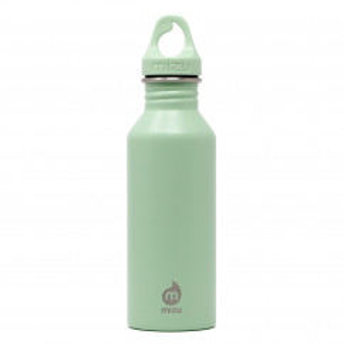 Trinkflasche Edelstahl M5 sea glass von MIZU. Design Edelstahlflasche in lindgrün - BPA-frei, auslaufsicher, 0,5 Liter Volumen, ...