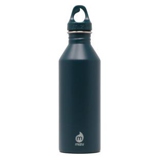 Dunkelblaue Trinkflasche M8 von MIZU: Edelstahltrinkflasche midnight blue.