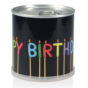 Blumendose - Happy Birthday Kerzenschriftzug - Extragoods - Mac Flowers