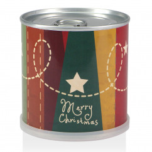 Weihnachtsbaum aus der Dose - Merry Christmas nostalgisch Sterne